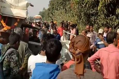 सतना में सड़क हादसा, 7 स्कूली बच्चों सहित 8 की मौत