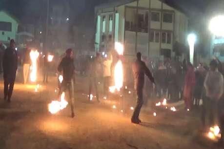 बड़ाहाट में बड़ी धूमधाम से मनाई गई दीपावली