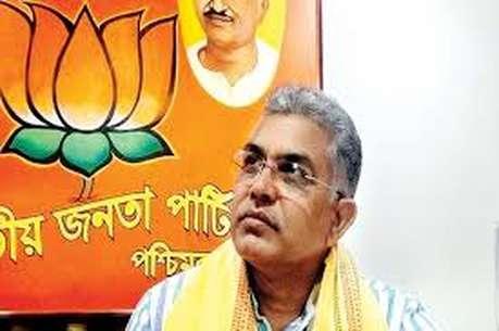 पश्चिम बंगाल बीजेपी के प्रदेश अध्यक्ष दिलीप घोष के काफिले पर हमला, कार का शीशा टूटा