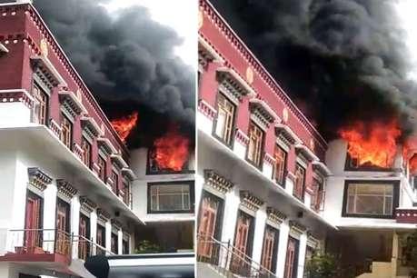 कुल्लू के काईस बौद्ध मठ में आग, दलाई लामा का विशेष कक्ष जलकर ख़ाक