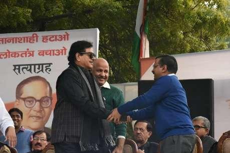 दिल्ली में विपक्ष की रैली में पहुंचे बीजेपी सांसद शत्रुघ्न सिन्हा, कहा-देश को बचाना है