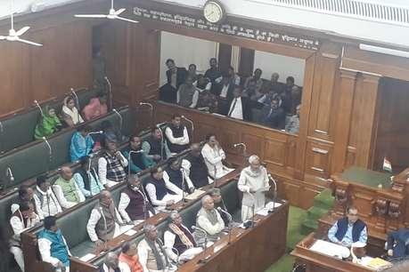 बिहार विधानसभा में गांधी के बहाने नीतीश ने लालू पर साधा निशाना
