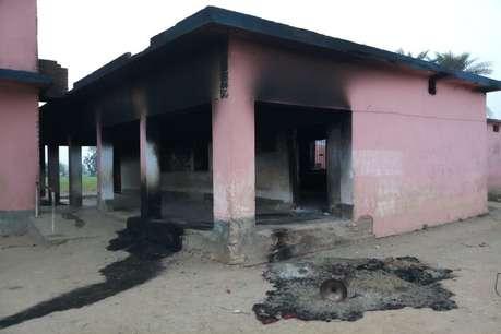 अर्धसैनिक बलों के लिए बनाए जा रहे कैम्प पर नक्सली हमला, स्कूल बिल्डिंग में लगाई आग