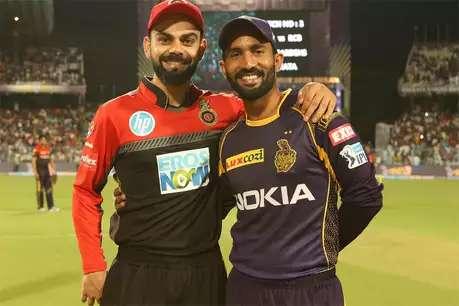 RCB vs KKR: दोनों टीमों की 24 बार हुई भिड़ंत, बैंगलोर ने 9 तो नाइटराइडर्स ने 15 बार जीता मैच