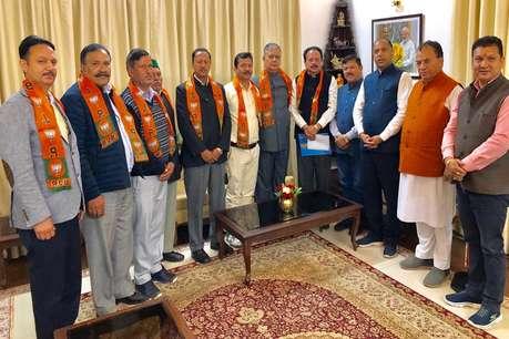 प्रचार के आखिर दिन झटका, कांग्रेस राज्य कमेटी के सचिव मंजीत BJP में शामिल