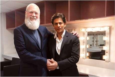 डेविड लेटरमैन के शो में शामिल हुए शाहरुख खान, ऋषि कपूर से भी की मुलाकात