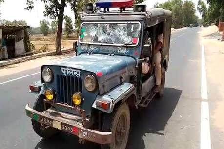 सड़क हादसे में युवक की मौत से गुस्साए ग्रामीणों का पुलिस टीम पर हमला, हवाई फायरिंग