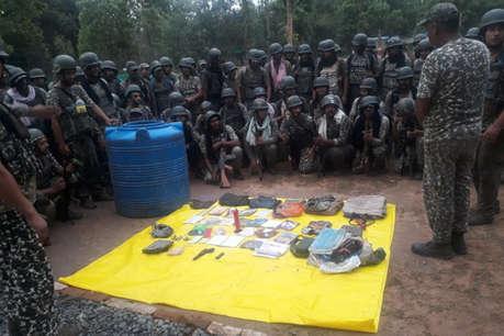 ITBP ने कोंडागांव में किया नक्सल कैंप ध्वस्त, हथियार भी बरामद