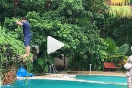 53 साल की उम्र में सलमान ने स्विमिंग पूल में किया ये स्टंट