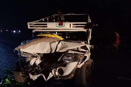 बाराती गाड़ी और पिकअप वाहन में जोरदार भिड़ंत, 5 लोगों की मौत