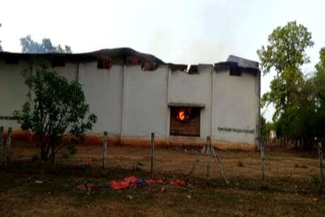 गरियाबंद: तेंदूपत्ता गोदाम में नक्सलियों ने की आगजनी, 15 हजार बोरे जलकर खाक