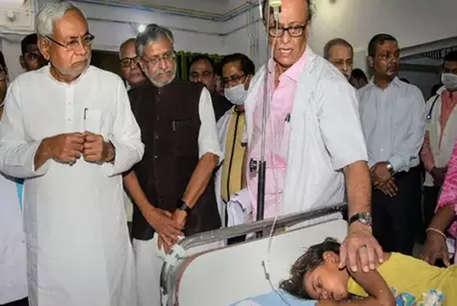 लू पीड़ितों से मिलने गया पहुंचे CM नीतीश, सुशील मोदी भी थे साथ
