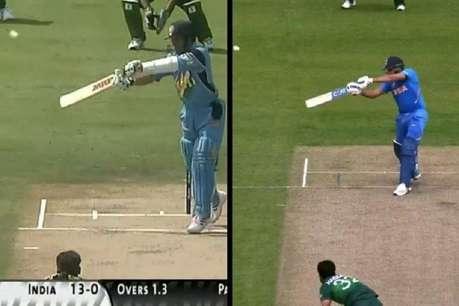IND vs PAK : जब रोहित शर्मा ने जड़ा 16 साल पुराना सचिन वाला छक्का!