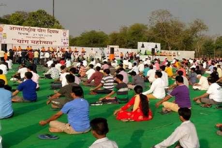 International Yoga Day: पूर्व मुख्यमंत्री वसुंधराराजे ने जयपुर में किया योग