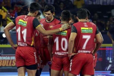 Pro Kabaddi League 2019: रोमांचक मैच में बेंगलुरु बुल्स ने दी यू मुंबा को मात