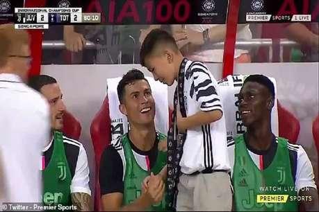 क्रिस्टियानो रोनाल्डो से मिलना चाहता था छोटा प्रशंसक, स्टार फुटबॉलर ने बेंच पर जगह बनाई और अपने साथ बैठाया