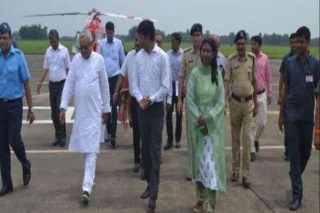 CM नीतीश ने बाढ़ प्रभावित इलाकों का किया दौरा, अधिकारियों को दी हिदायत