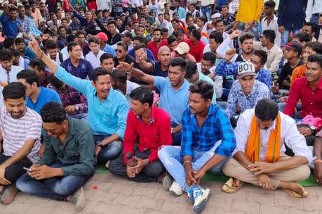 पुलिस बनने की इच्छा रखने वाले युवाओं का सरकार के खिलाफ हल्लाबोल, राजधानी में आंदोलन जारी