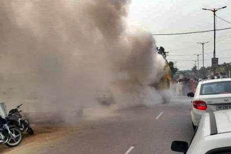 हिमाचल: चलती बस में लगी आग, बाल-बाल बची 25 यात्रियों की जान