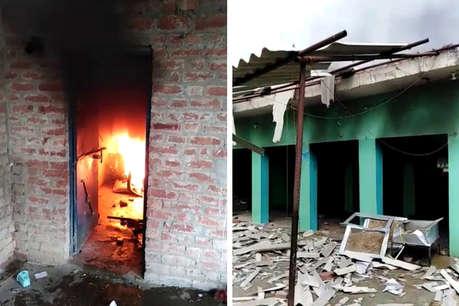 फतेहपुर में बवाल, भीड़ ने मदरसे में तोड़फोड़ के बाद लगाई आग