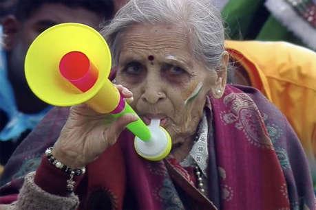 टीम इंडिया की जबरा फैन चारुलता पटेल को मिला ऐड, पेप्सी की कर रहीं शूटिंग