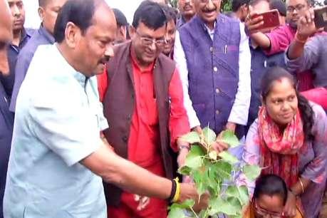 नदी महोत्सव: रघुवर दास ने किया पौधारोपण, जनता से किया वृक्षारोपण का आग्रह