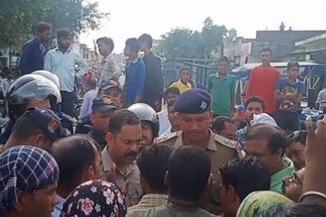 डीजे बजाने के विवाद में वृद्ध की हुई मौत, शव के साथ सड़क जाम करने वालों को पुलिस ने खदेड़ा
