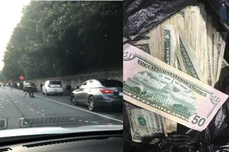 ...जब नेशनल हाईवे पर ट्रक से उड़ने लगे नोट, लोगों ने लूट लिए 68 लाख