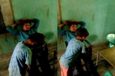 स्कूल में बच्चों से पैर दबवाते टीचर का वीडियो वायरल, अभिभावकों ने किया हंगामा