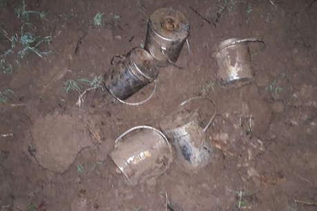 पलामू: नक्सलियों के 5 केन बम नाले से बरामद