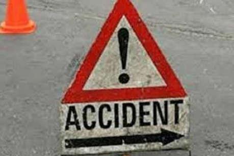 Accident: भारी बारिश में तीन बाइक आपस में भिड़ीं, 2 पुलिसकर्मी समेत 4 की मौत