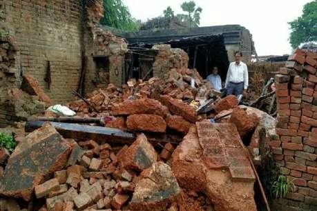 भारी बारिश से भरभराकर ढह गई छत, मां के साथ 2 बच्चों की मौत