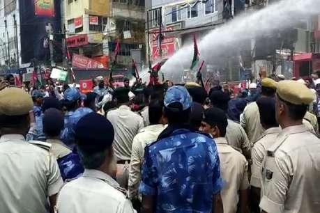 पटना में पप्पू यादव के कार्यकर्ताओं का उग्र प्रदर्शन, पुलिस के साथ झड़प