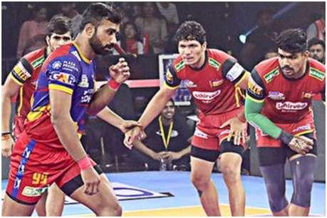 PKL 2019: बेंगलुरू बुल्स पर यूपी योद्धा की रोमांचक जीत