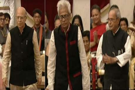 प्रणब मुखर्जी, भूपेन हजारिका और नाना जी देशमुख भारत रत्न से सम्मानित