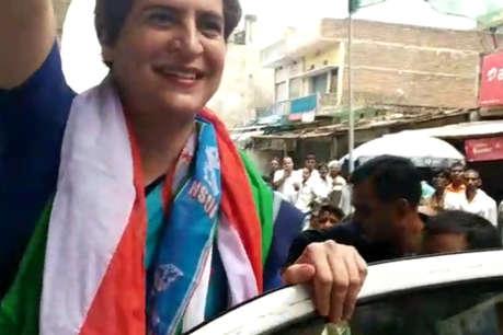 प्रियंका गांधी पहुंची सोनभद्र, कांग्रेस कार्यकर्ताओं ने किया जोरदार स्वागत