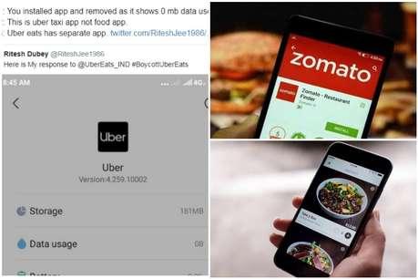 Uber eats आया Zomato के समर्थन में, गुस्साए लोग Uninstall करने लगे Uber का Taxi App