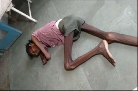 बेड से नीचे गिर दर्द से तड़प रहा था मरीज, डॉक्टरों ने नहीं ली सुध