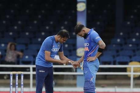 टीम इंडिया के लिए बुरी खबर, विराट कोहली के अंगूठे से निकला खून, हो सकता है फ्रैक्चर!