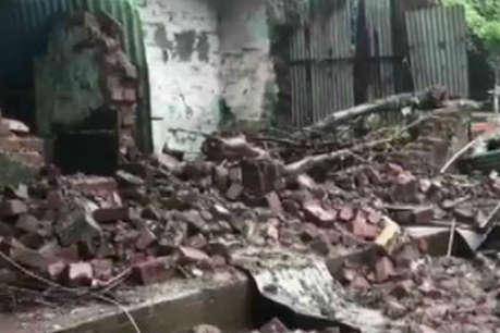वायुसेना भर्ती के लिए आए युवकों पर दीवार गिरी, 10 गंभीर रूप से घायल