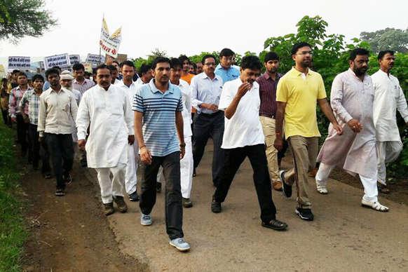 मंत्री धनसिंह रावत ने की 'स्वच्छता ही सेवा अभियान' के लिए पदयात्रा
