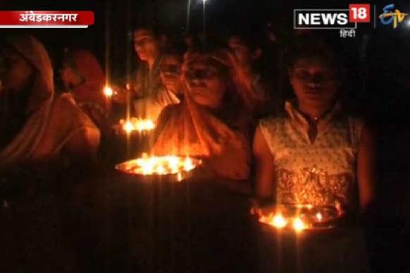 VIDEO : नवसंवत्सर के अवसर पर लोगों ने सरयू नदी की पूजा अर्चना की
