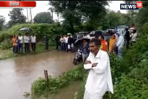 VIDEO: भारी बारिश के बाद गुनेरी नदी के पुल पर आया पानी