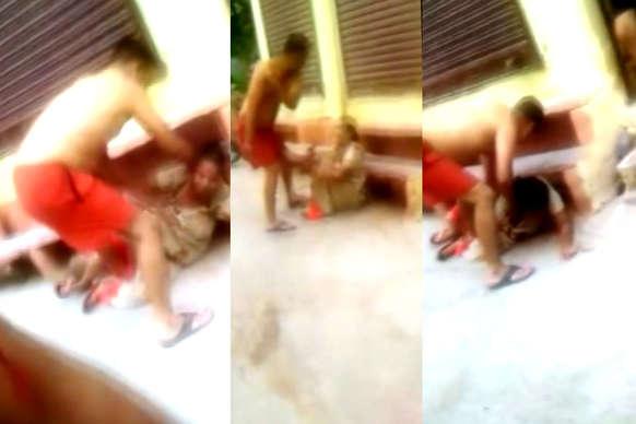 महिला की सरेआम पीटाई का VIDEO वायरल, आरोपी पर कार्रवाई नहीं!