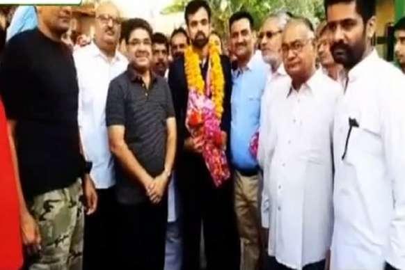 अर्जुन पुरस्कार विजेता संदीप मान का हनुमानगढ़ में हुआ जोरदार स्वागत