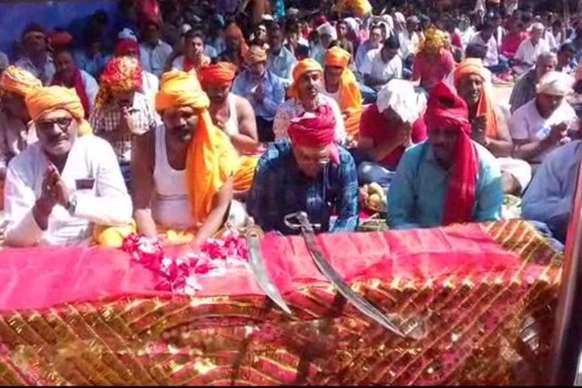 VIDEO: इस मंदिर में बलि से पहले तलवार की होती है पूजा