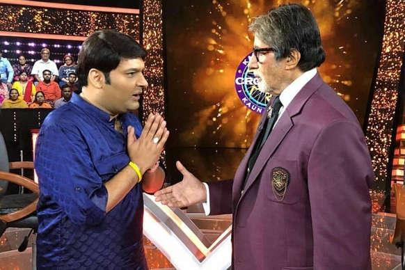 OMG! KBC में अमिताभ से बोले कपिल शर्मा -जब बाप का यही हाल है तो...