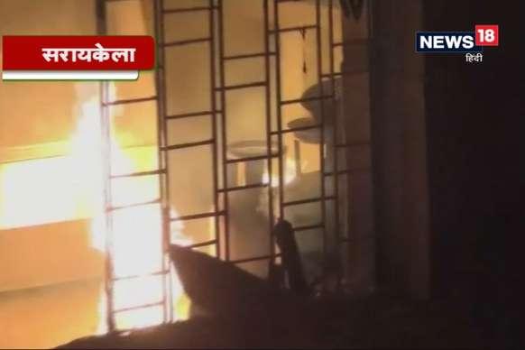 VIDEO : होटल में खाना बनाने के दौरान सिलिंडर में लगी आग, बड़ा हादसा टला