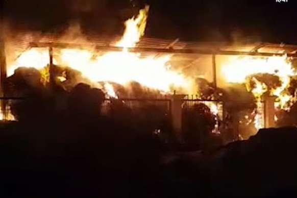 कबाड़ के गोदाम में भड़की आग, 10 लाख रुपयों का नुकसान