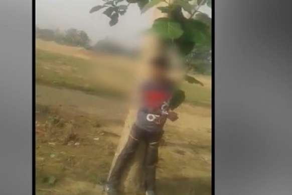 पेड़ से बंधे युवक का VIDEO VIRAL, चोरी के आरोप में हुई पिटाई